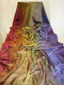InStock Ready2Ship:   8mm Heavier Extra Large Belly Dance Veil, in GOTHIC RAINBOW