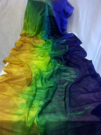 5mm Ultralight 3 yard Silk Belly Dance Veil, in SERPENTINE