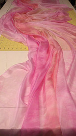 INSTOCK READY2SHIP:   5mm Ultralight 3 yard Silk Belly Dance Veil, in TONAL PINKS
