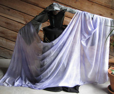 5MM 3YARD INSTOCK READY2SHIP: 5MM ULTRALIGHT 3 YARD SILK BELLY DANCE VEIL, IN  WISTERIA