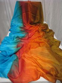 Instock Ready2Ship:   5mm Ultralight 3Yard Silk Belly Dance Veil  in  EGYPTIAN QUEEN