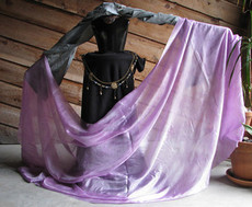 5MM 3YARD INSTOCK READY2SHIP: 5MM ULTRALIGHT 3 YARD SILK BELLY DANCE VEIL, in PLUM BLOSSOM