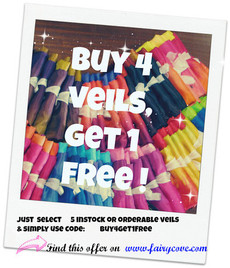 OFFER   ***  BUY 4 - GET 1 FREE!!  ***  5mm Ultralight 3 yard Silk Belly Dance Veil