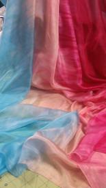 INSTOCK:  2ND Quality  5mm Ultralight 3 yard Silk Belly Dance Veil, in (new 2014) PEACH SKIES