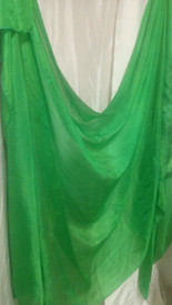 5MM 3YARD INSTOCK READY2SHIP: 5MM ULTRALIGHT 3 YARD SILK BELLY DANCE VEIL, in VIVID GREEN