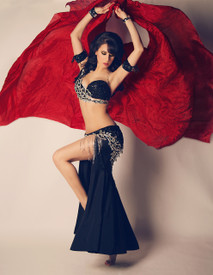 SPRING VEIL ORDER OFFER 2017:  5mm Ultralight 3 yard Silk Belly Dance Veil, in DEEP RED