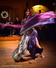 AUTUMN PREORDER VEIL OFFER 2017:   5mm Ultralight 3 yard Silk Belly Dance Veil, in PURPLE HAZE