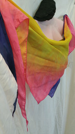 INSTOCK:  *LARGE 20X72X20INCH*  DOUBLE SIDED  and REVERSIBLE TRIANGLE SCARF  in  PERSEPHONE and HYACINTH PLUM