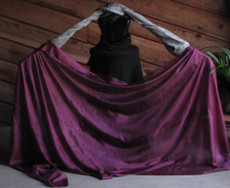 AUTUMN PREORDER VEIL OFFER: 5mm Ultralight 3 yard Silk Belly Dance Veil, in PLUM WINE