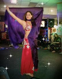 Susan Senator with Dark Purple Veil first  public performance in MA, USA