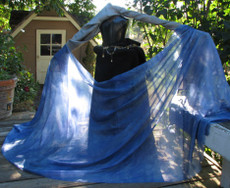 5MM 3YARD INSTOCK READY2SHIP: 5MM ULTRALIGHT 3 YARD SILK BELLY DANCE VEIL,  in PERIWINKLE
