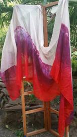 InStock: 5mm Ultralight 4yard Silk Belly Dance Veil, in WISTERIA TROPICAL SUNSET