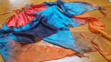 INSTOCK READY2SHIP: MED PAIR Triangular 5mm Silk Habotai VOI PAIR in BLACK EGYPTiaN  QUEEN