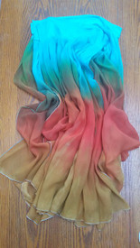 INSTOCK Ready2Ship    ** PAIR  WIDE ADJUSTABLE  ARM DRAPES or SKIRT PANELS* 8mm Silk  CHIFFON in, EGYPTIAN QUEEN  6wide 29inches long