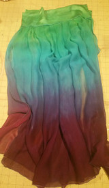 INSTOCK Ready2Ship    ** PAIR  WIDE ADJUSTABLE ARM DRAPES or SKIRT PANELS* 8mm Silk  CHIFFON in, ISIS  13wide 30inches long