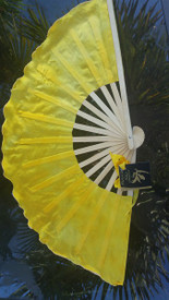 INSTOCK  READY2SHIP:  single RIGHT  MEDIUM SHORTY  FAN!  22x14iches  in SUN COSMOS