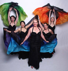 SPECIAL OFFER:  ORDERABLE:  new!  5mm Ultralight 3 yard Silk Belly Dance Veil, in BLACK FADE - YOU CHOOSE