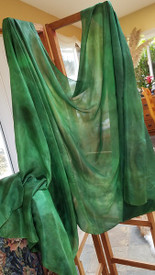 INSTOCK READY2SHIP: 6mm Midweight 45X108 yard Silk Belly Dance Veil, EMERALD
