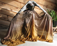 SPRING PREORDER VEIL SALE:  5mm Ultralight 3 yard Silk Belly Dance Veil, in TUTANKHAMEN