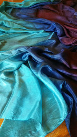 INSTOCK READY2SHIP: 5mm Ultralight 3 yard Silk Belly Dance Veil, in GOTHIC ROYAL FANTASY