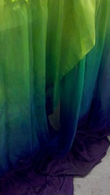 ORDERABLE:  5mm Ultralight 3 yard Silk Belly Dance Veil, in MEADOW ISIS