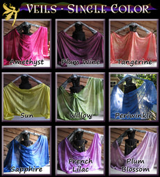 AUTUMN PREORDER VEIL OFFER:  5mm Ultralight 3 yard Silk Belly Dance Veil, in SINGLE TONAL COLORS