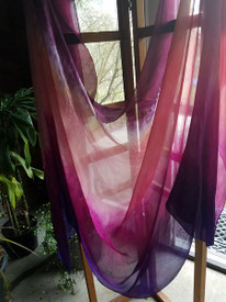 INSTOCK  Ready to Ship:  2nd Quality:  5mm Ultralight SILK 3 yard Silk Belly Dance Veil, in PARADISE SKY