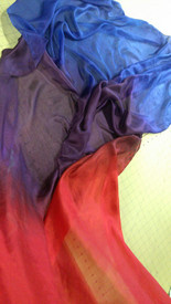 SPRING VEIL OFFER:   5mm Ultralight 3 yard Silk Belly Dance Veil, in MAGICK