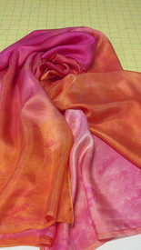 SPRING VEIL OFFER:   5mm Ultralight 3 yard Silk Belly Dance Veil,  in LUSCIOUS MALIA