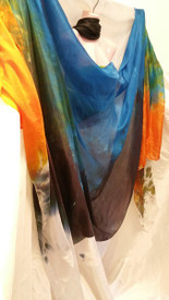 SPRING VEIL OFFER:   PASSION SERIES!!  5mm Ultralight 3 yard Silk Belly Dance Veil, in EARTH and PLANET