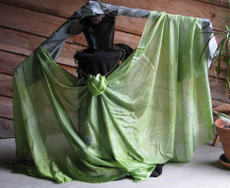 5mm Ultralight 3 yard Silk Belly Dance Veil, in WILLOW