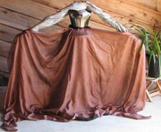 5mm Ultralight 3 yard Silk Belly Dance Veil, in CHOCOLATE
