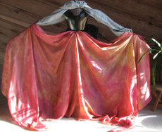 5mm Ultralight 3 yard Silk Belly Dance Veil, in HARVEST