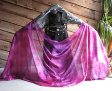 5mm Ultralight 3 yard Silk Belly Dance Veil, in APHRODITE