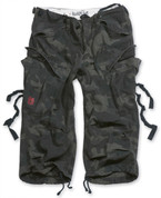 Surplus 3/4 Engineer Shorts Black Camo