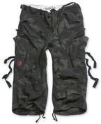 Surplus 3/4 Engineer Shorts Black Camo