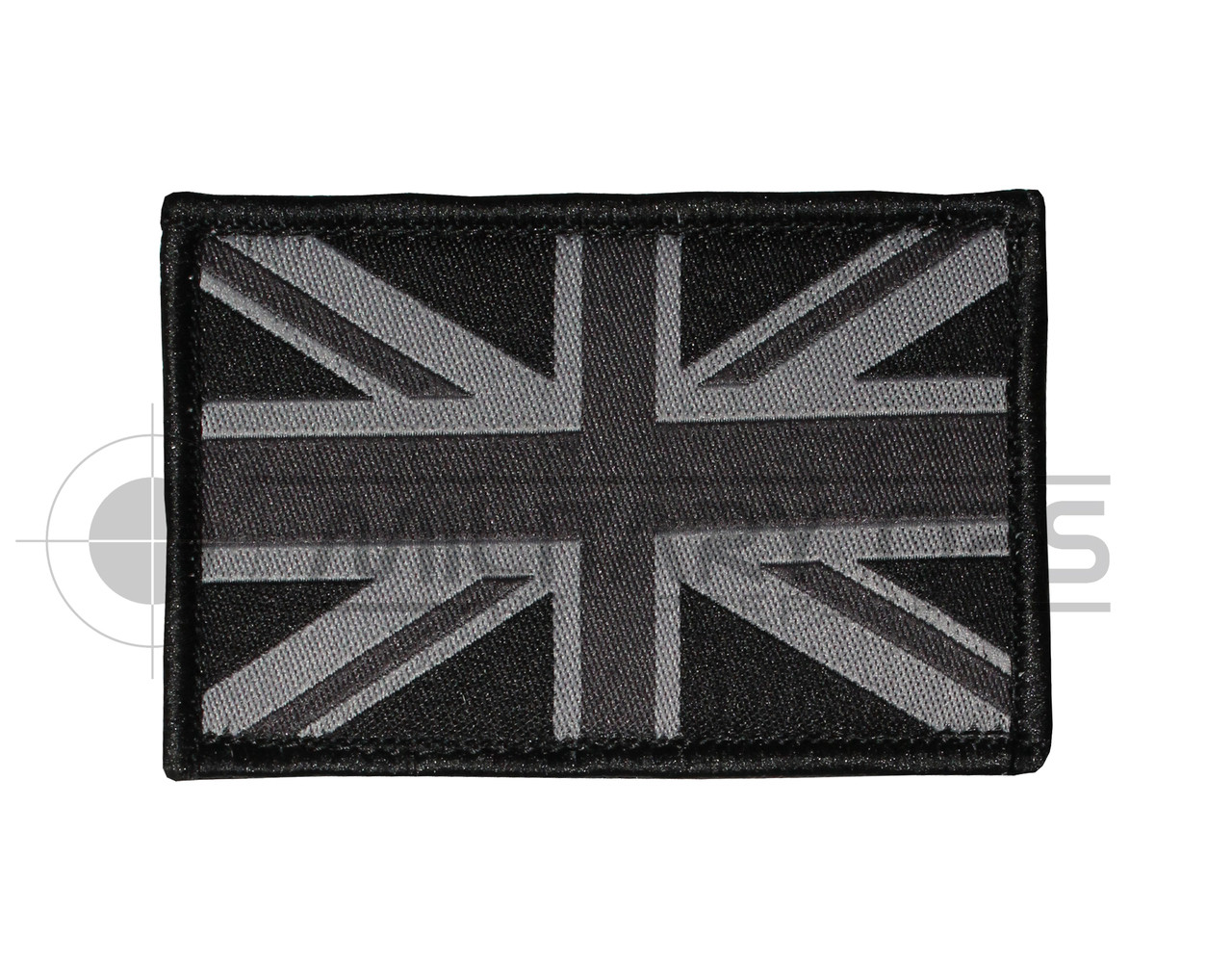 Union flag jack velcro patch black subdued militaryops ltd
