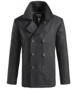 Surplus Vintage Pea Coat Black