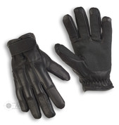 Black Leather Sand Knuckle Gloves