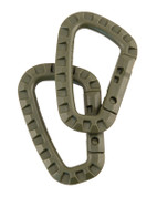 Tactical ABS Carabiner Olive Green