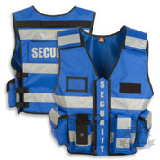 Security Vest HiViz Blue