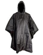Black Waterproof Ripstop Poncho
