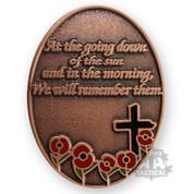Poppy Brass Cross Badge