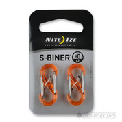 NITE IZE S BINER CARABINER SIZE 0 (orange 2 pack)