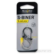 NITE IZE S BINER CARABINER SIDELOCK SIZE 2 (stainless steel)