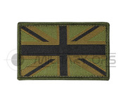 Union Jack Velcro Patch Small (3 Colour Green)