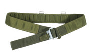 PLCE Issue Webbing Belt Olive With Roll Pin Buckle