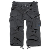 BRANDIT INDUSTRY 3/4 LEGNTH SHORTS BLACK