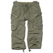 BRANDIT INDUSTRY 3/4 LEGNTH SHORTS OLIVE GREEN