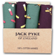 Jack Pyke Cartridge & Pheasant Handkerchief 4 Pack